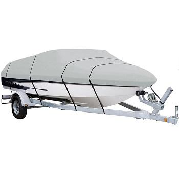 AmazonBasics Boat Cover for V-Hull Runabouts and Bass Boats