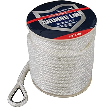 Attwood Solid Braid MFP Anchor Line with Thimble