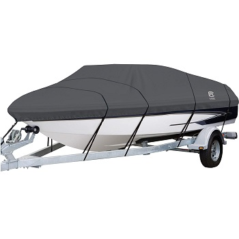 Classic Accessories StormPro Heavy-Duty Boat Cover with Support Pole