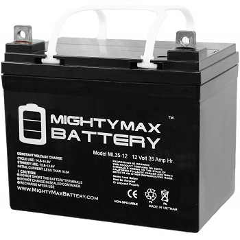 Mighty Max 12V 35AH Replacement Battery for Light Trolling Motor