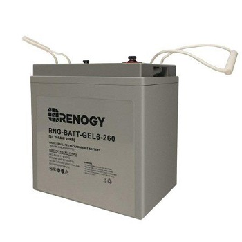 Renogy 6 Volt 260Ah Deep Cycle Pure Gel Battery