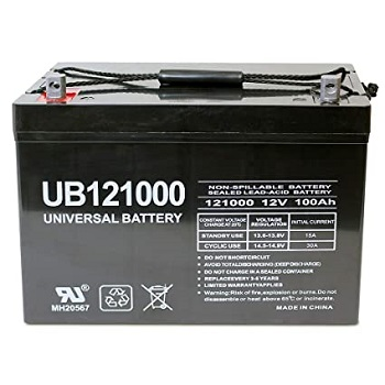 Universal Power Group 12V 100Ah Solar Wind AGM Battery