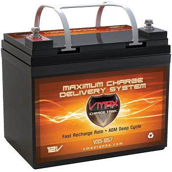 VMAXTANKS VMAX V35-857 AGM Deep Cycle Marine Battery