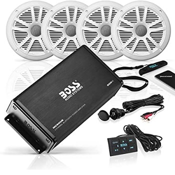 BOSS Audio Systems Marine Weatherproof Amplifier and Speaker