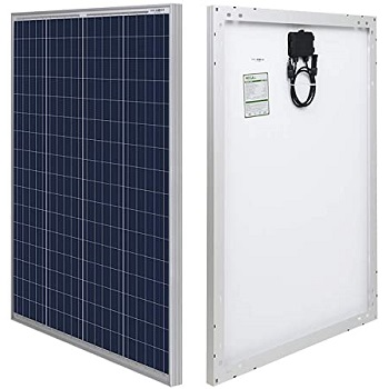 HQST 100 Watt 12 Volt Polycrystalline Solar Panel Power for Boats