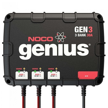 NOCO Genius GEN3 30 Amp 3-Bank On-Board Battery Charger