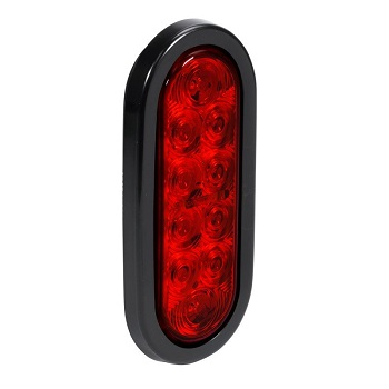 Online Red Store Waterproof Red Oval LED Trailer Tail Light Kit