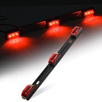 Partsam Red Sealed Stainless Steel Trailer Identification LED Light