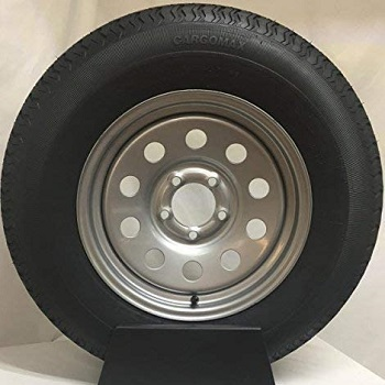 "Wheel Express 15"" Silver Mod Trailer Wheel with Radial ST205/75R15"