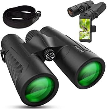 WildVis 12x42 Binoculars Compact Waterproof Prism BAK4 FMC Lens