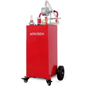 Arksen 35 Gallon Portable Gas Caddy Fuel Storage Tank