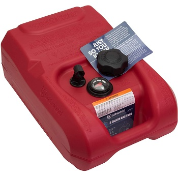 Attwood Portable 12-Gallon Marine Fuel Tank EPA CARB Certified