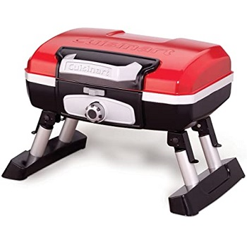 Cuisinart CGG-180T Petit Gourmet Portable Tabletop Gas Grill Red