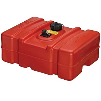 Scepter 08669 Rectangular Fuel Tank 12 Gallon Low Profile Red